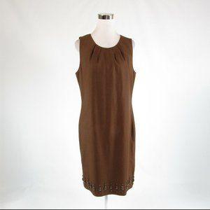 Brown TALBOTS sheath dress 12